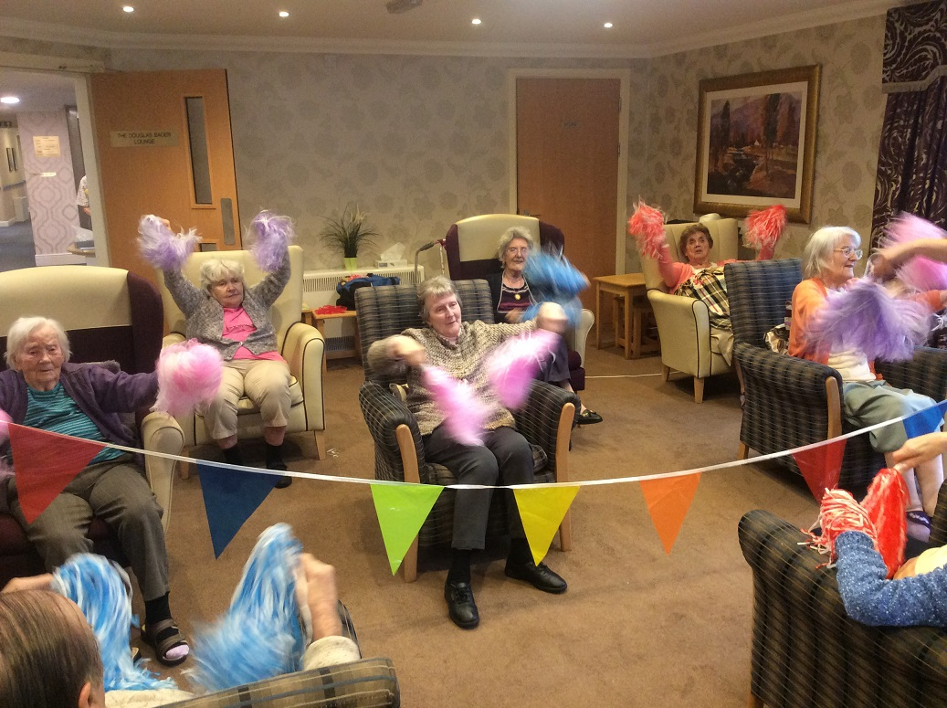 Our residents joining in with our Oomph activity