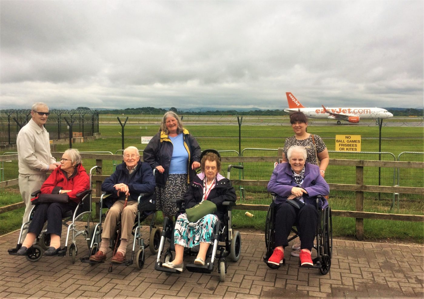Residents at Lawton Manor Care Home in Stoke-on-Trent enjoy a trip to Manchester Airport