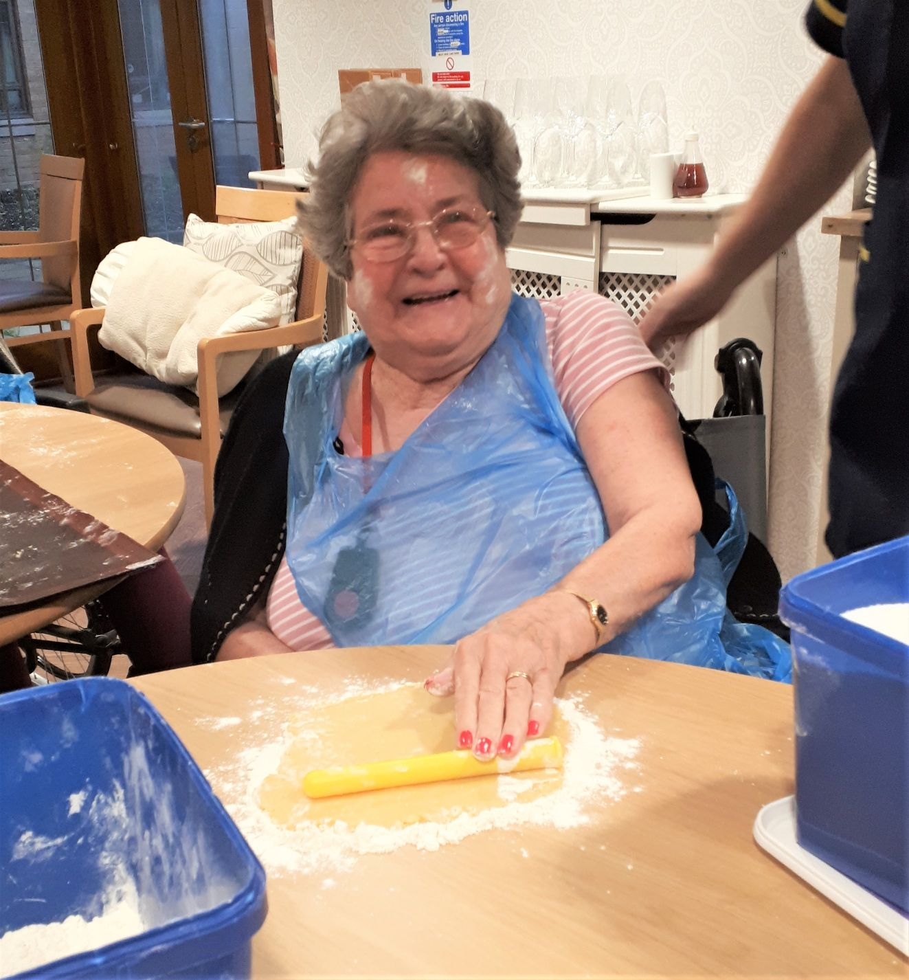 Meyrick Rise Care Home, Dorset-Resident Joyce had great fun during our shortbread making activity
