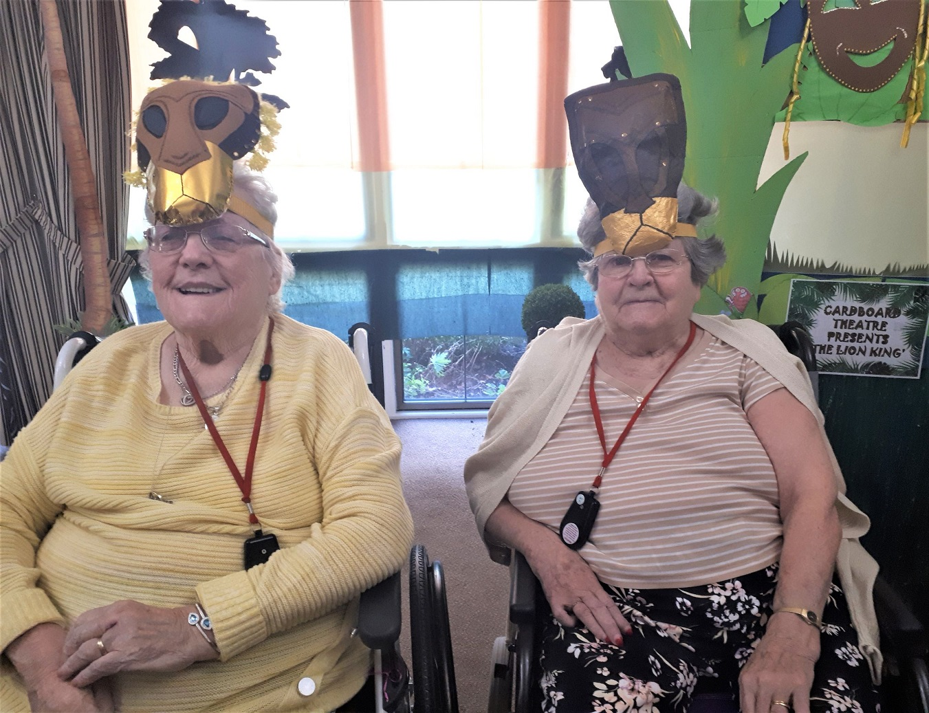 Meyrick Rise Care Home, Bournemouth-Residents Pam and Joyce get into character for our production of 'The Lion King'