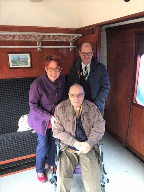 Ross Court Care Home in Herefordshire made a wish come true for resident who wanted to go on a steam train