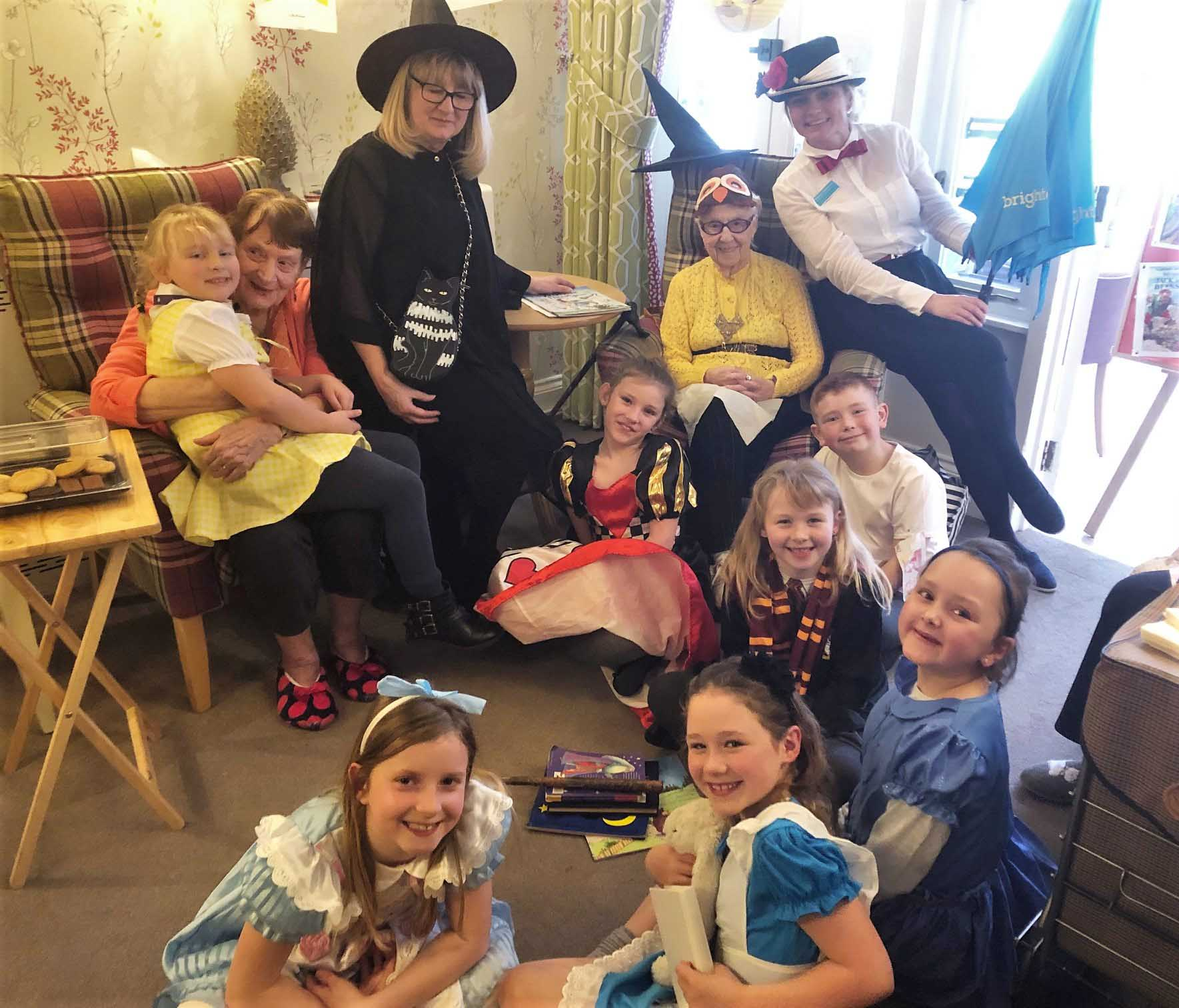 Residents at Mill House Care Home in Witney celebrate world book day