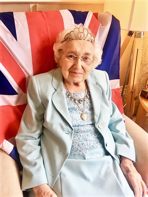 Residents at Springfield House Care Home celebrate The Queen's official birthday