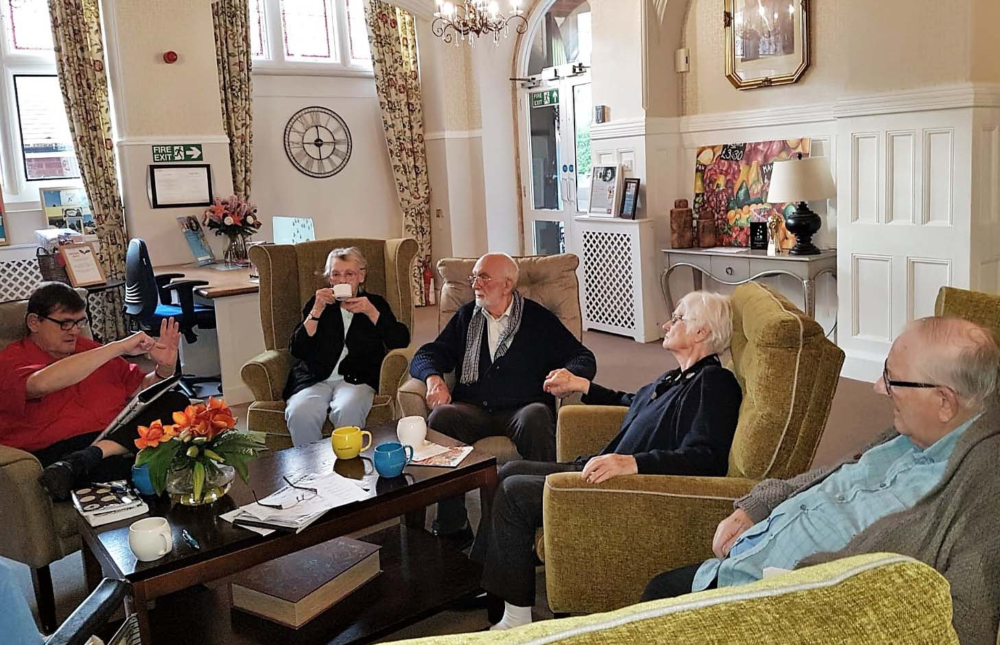 Woodbury House Care Home's new poetry club reminisces memories of winter