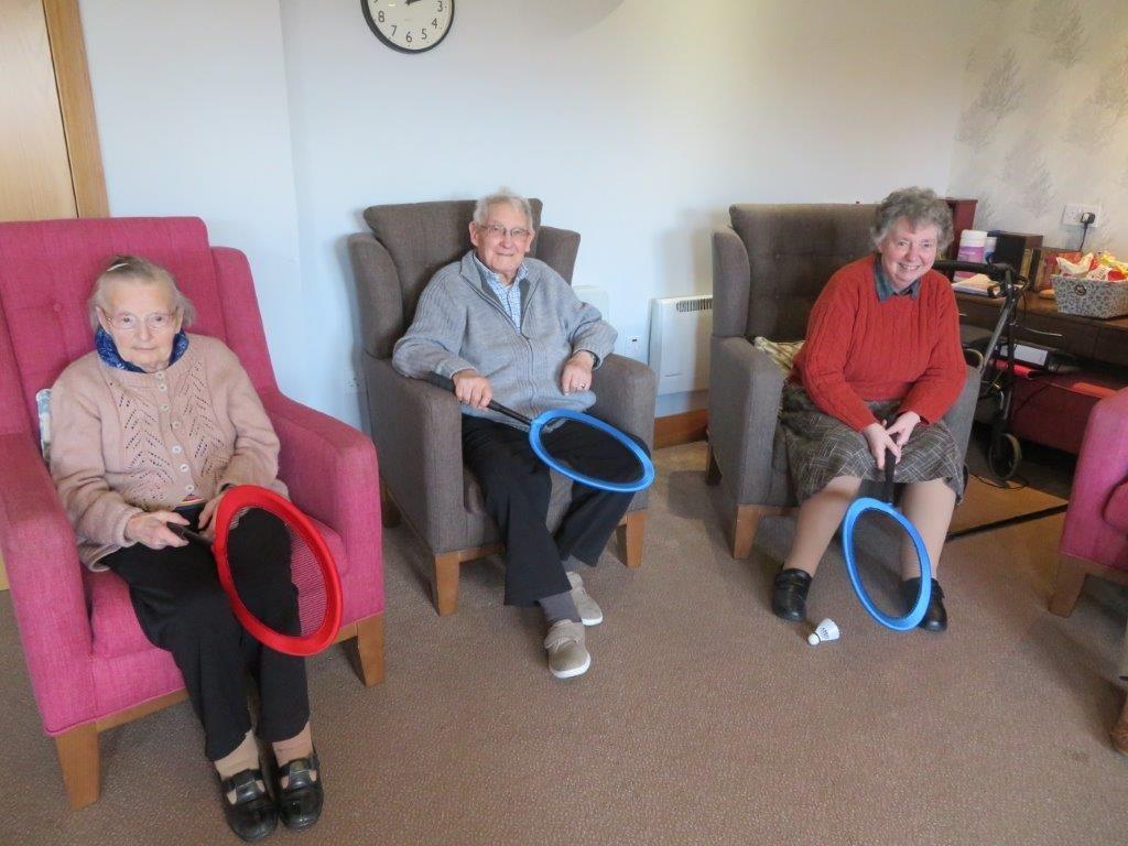 Westbury Court Care Home in Bath celebrate Sports Relief
