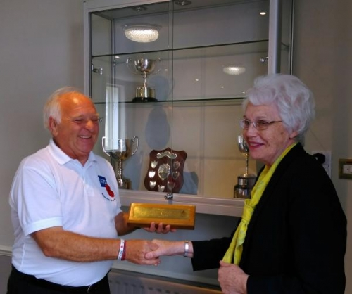 Mrs Janet Auty with the Chairman of The Ross-on-Wye Royal British Legion