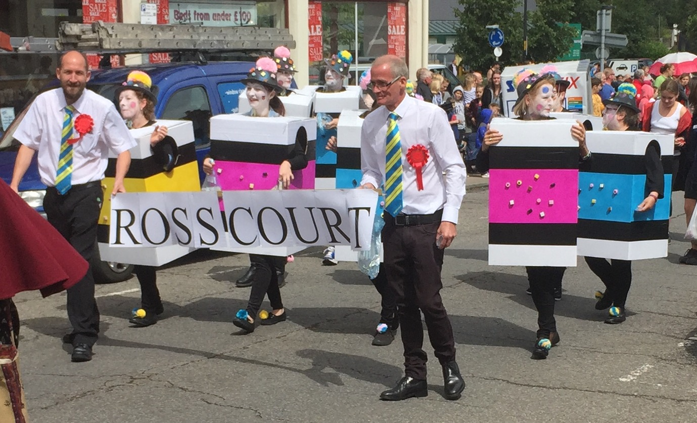 Ross Court taking part in the carnival