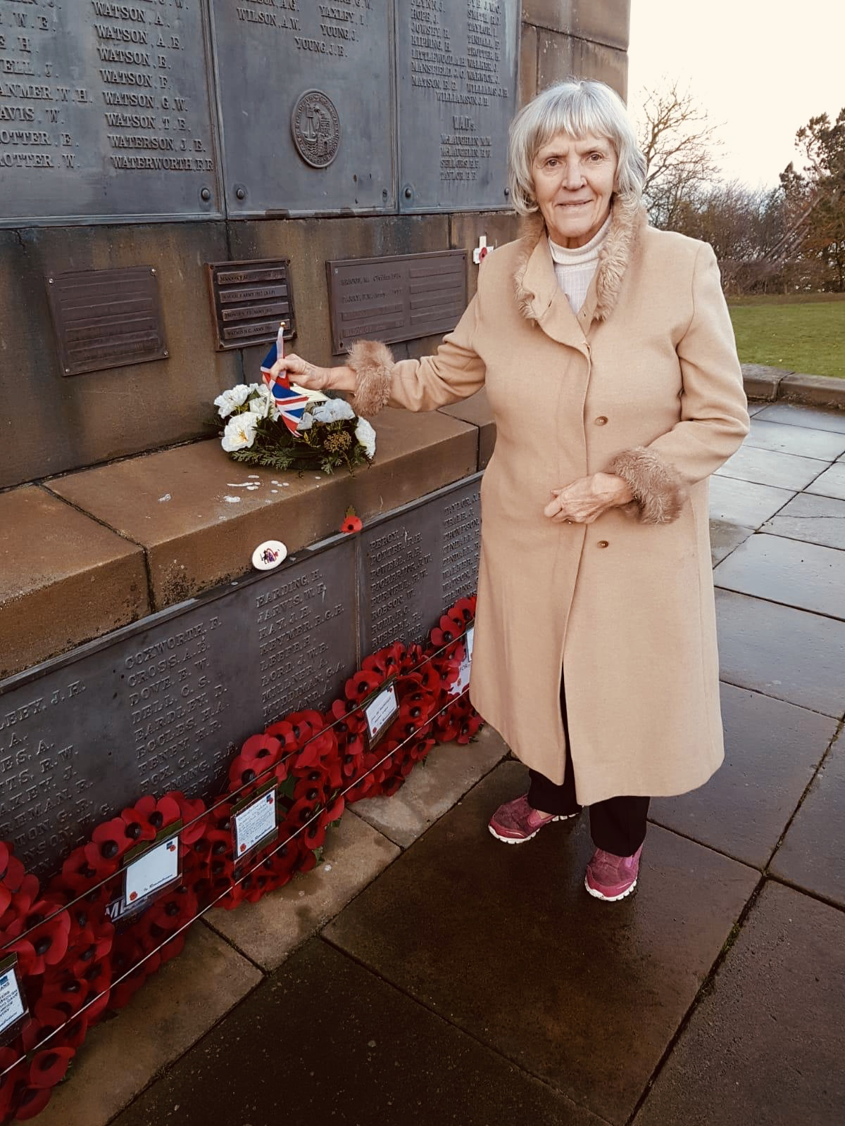 Resident Ann Sowersby at Oliver's Mount Memorial
