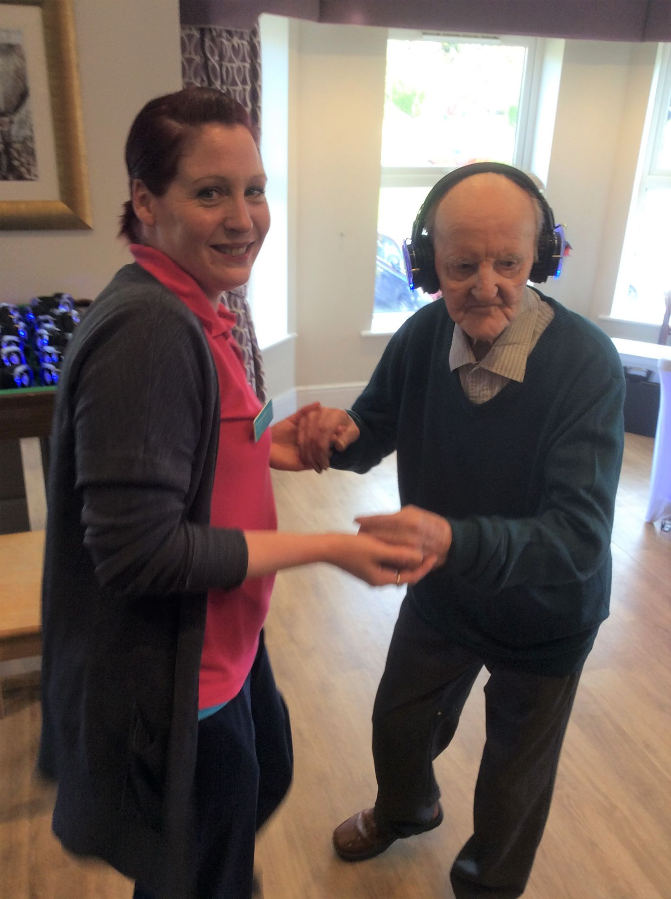 Leeming Bar Grange Care Home in North Yorkshire has a silent disco