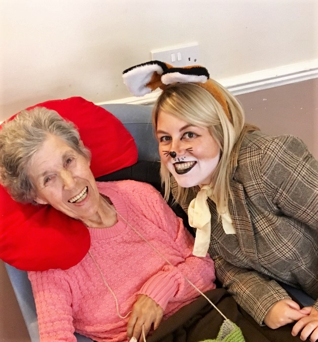 Residents and team at Springfield House Care Home in Codsall celebrate Roald Dahl Day
