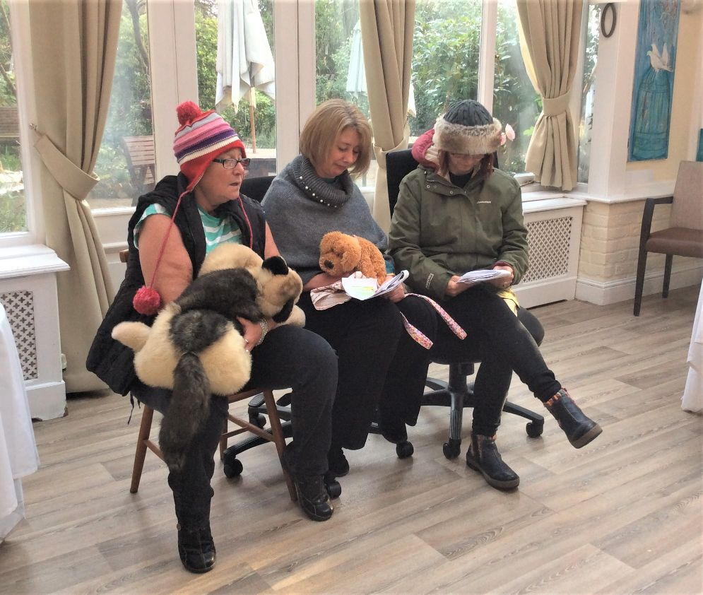 The Berkshire Care Home, Wokingham-Pat, Maryann and Alice from The Boundary Players performing for us