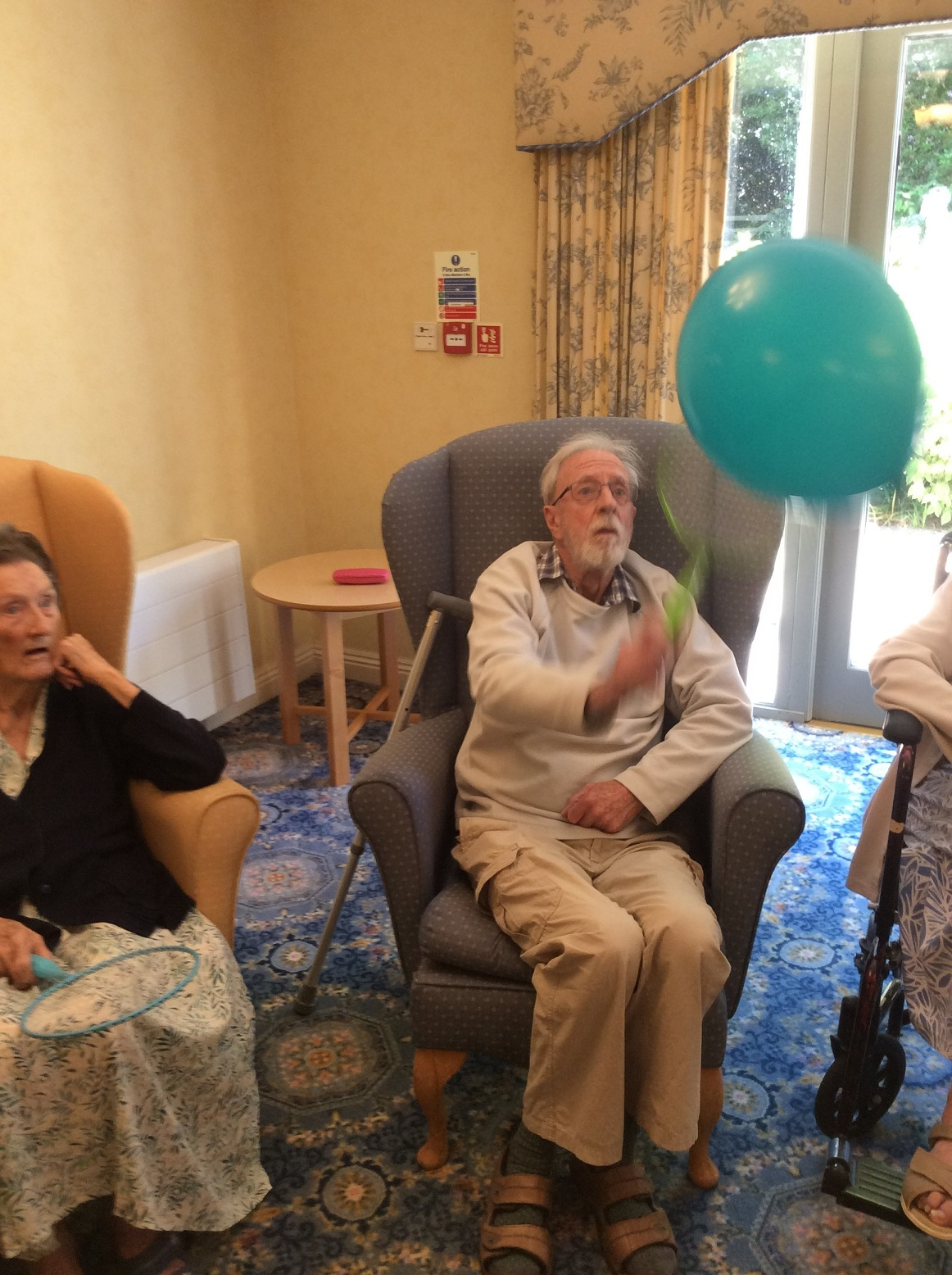 Resident Peter Wright gets into the swing of things