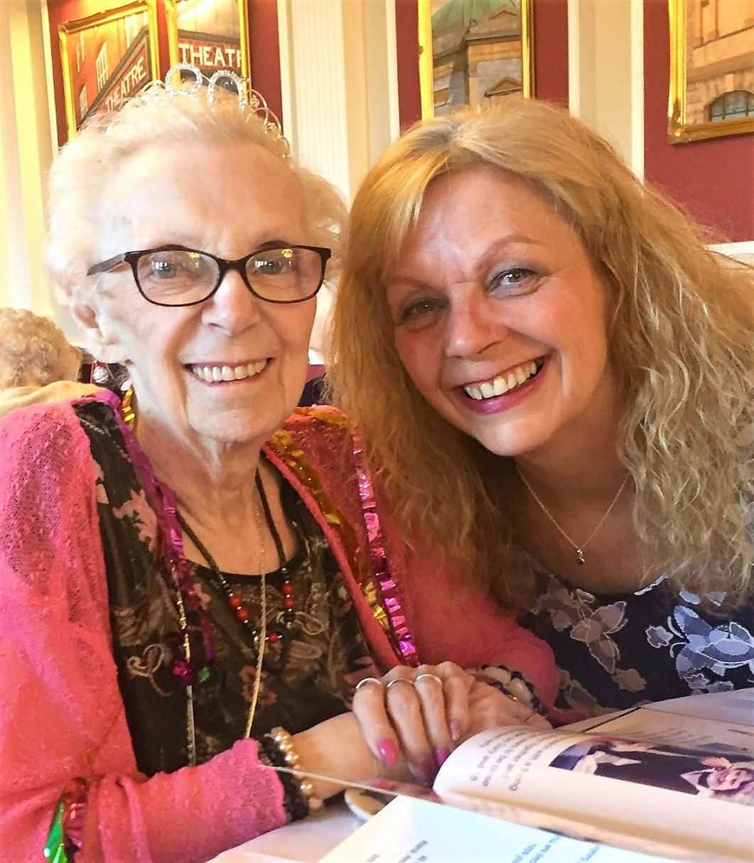 The Granby Care Home - Resident Sylvia celebrating her 80th birthday with her daughter Julie