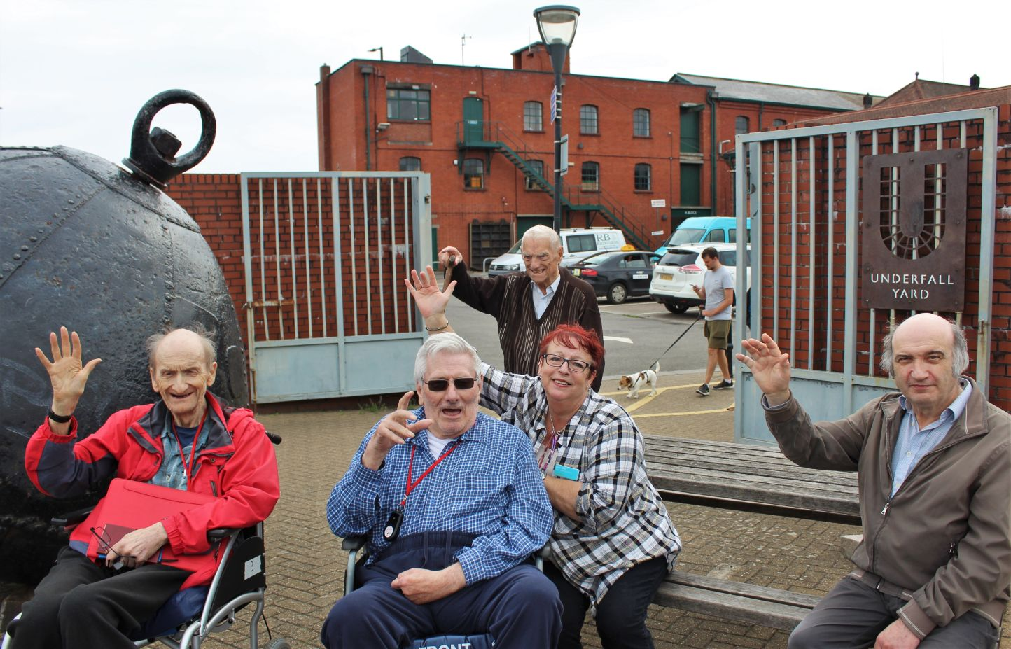 Residents at Ivybank House Care Home visit Underfall Yard in Bristol