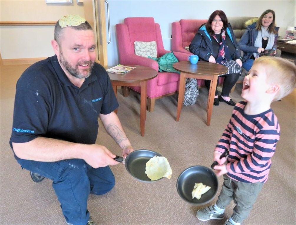 Westbury Court Care Home, Wiltshire-Pancake Fun