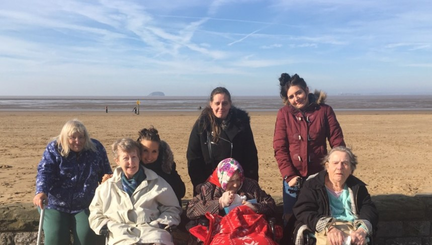 Oakfield Care Home's day by the sea in Weston-super-Mare