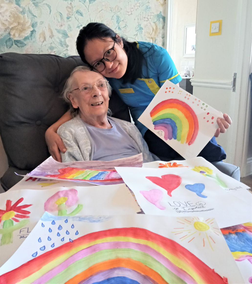Woodbury House Care Home, Berkshire-Margaret and Care Assistant Sarita