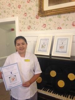 Head Chef Bimala Sherpa with her three awards