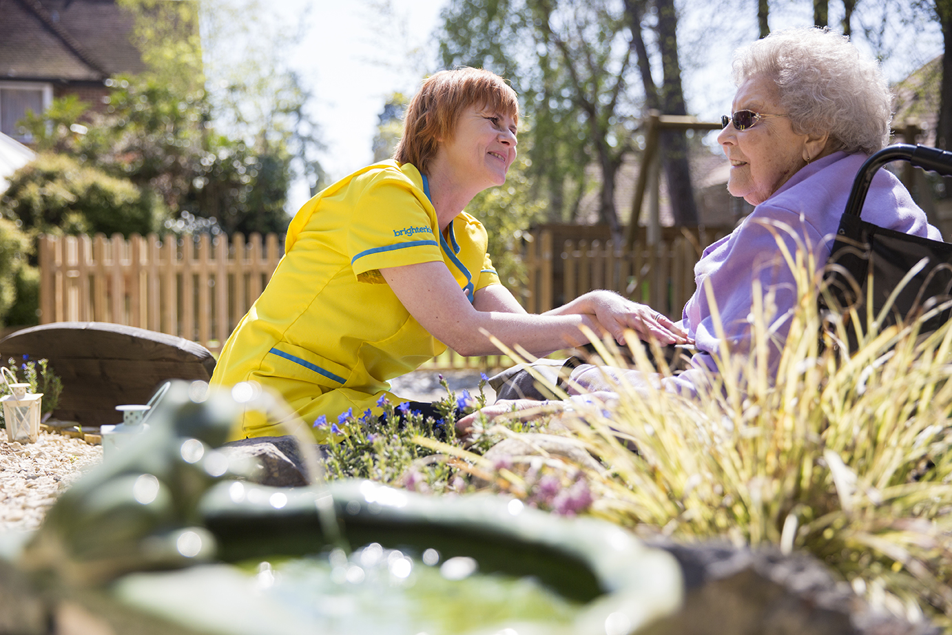 Albany Care Home outside space and garden