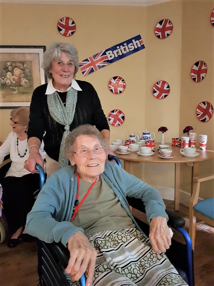 Bessie and her friend enjoying The Proms