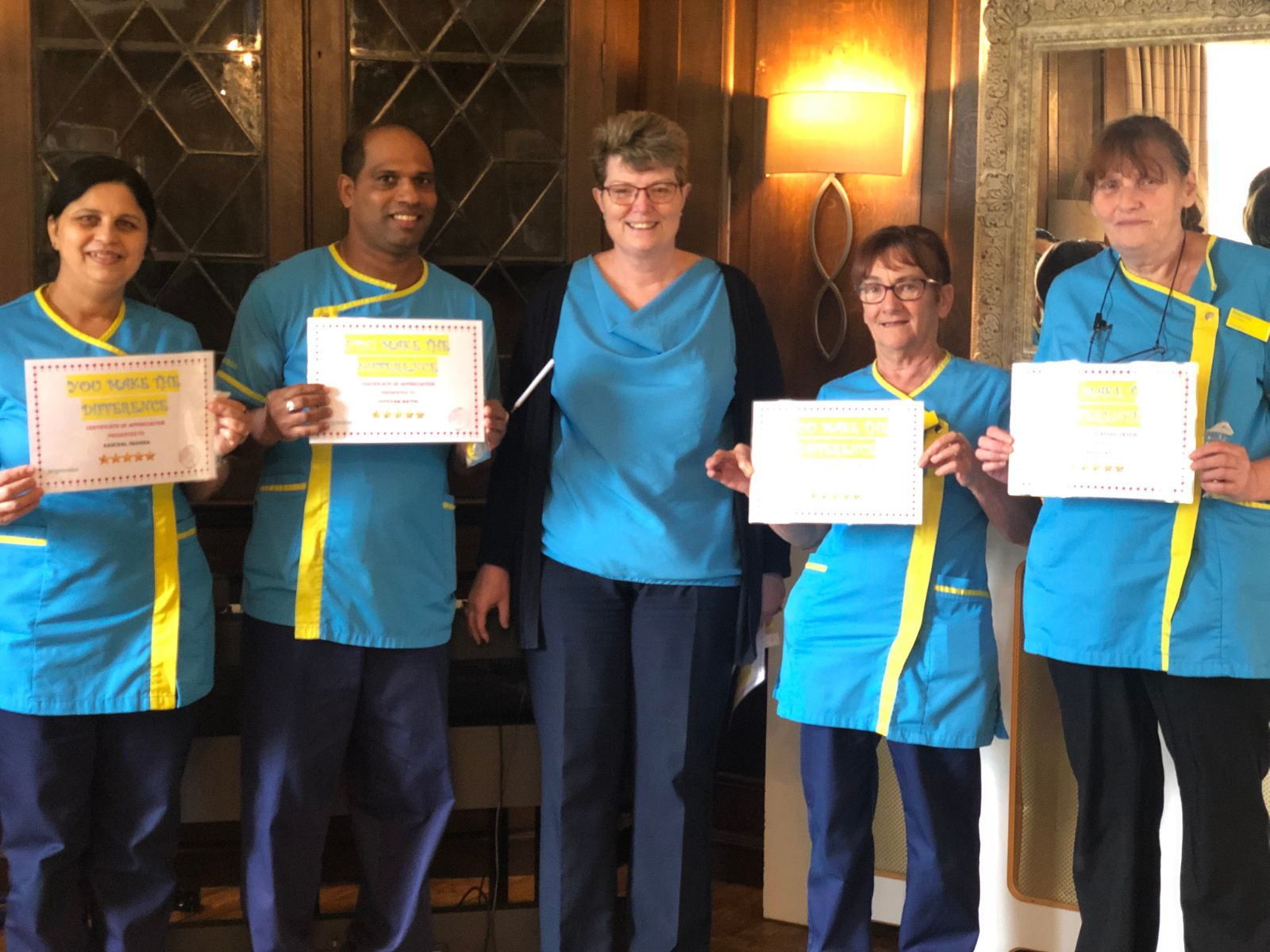 The team at Hungerford Care Home celebrate Carers Week 2019