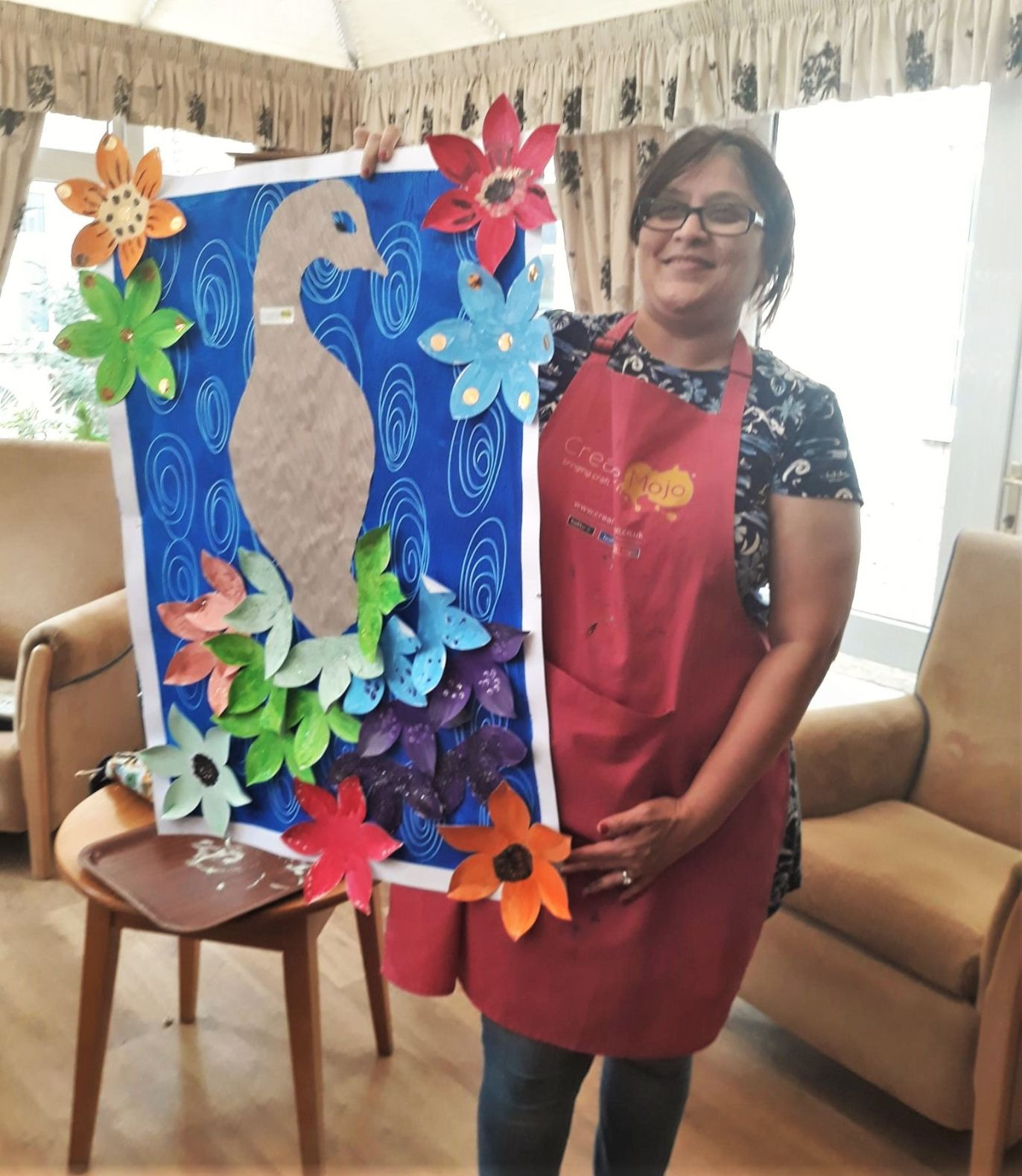 Residents at Highfield Care Home in Ware enjoy art sessions