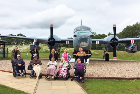Residents at Springfield House Care Home in Codsall enjoy a trip to the RAF Cosford museum
