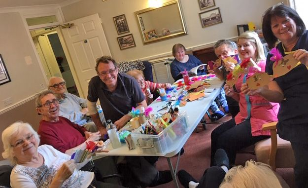 Springfield House Care Home in Codsall make sleep masks to celebrate National Art in Care Home day