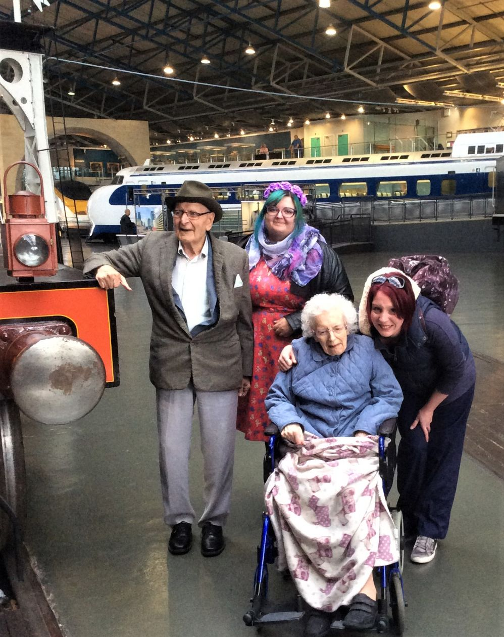 Leeming Bar Grange Care home in North Yorkshire took a trip to the National Railway Museum in York