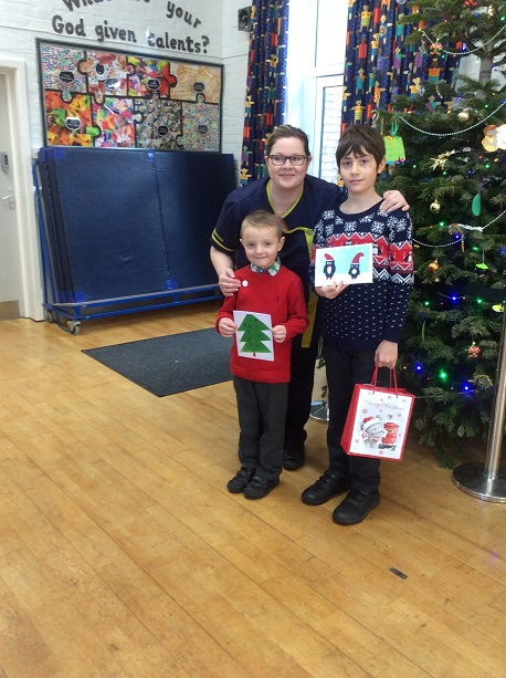Winners Sam Linfoot, year 6 from and Zachary Taylor, reception from Bourne Abbey school