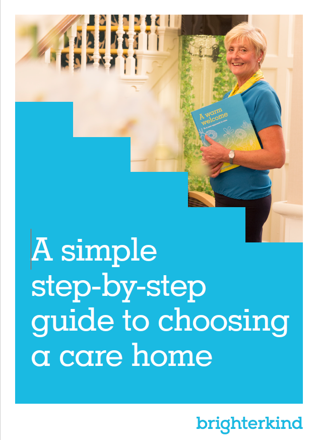 Choosing a care home guide cover pic