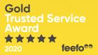 brighterkind feefo Gold Trusted Service Award 2020