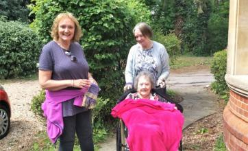 Residents at The Berkshire Care Home in Wokingham enjoy sprucing up our garden for Naturewatch