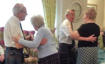 All the fun of the Ceilidh at Buchanan Lodge Care Home