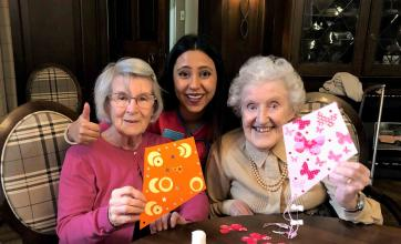 Hungerford Care Home gets crafty for the International Kite Festival