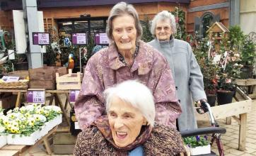 The Cedars Care Home are feeling seasonal with a festive day out to Fairweather Garden Centre