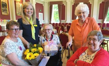 Residents, team and volunteers at The Granby Care Home in Harrogate