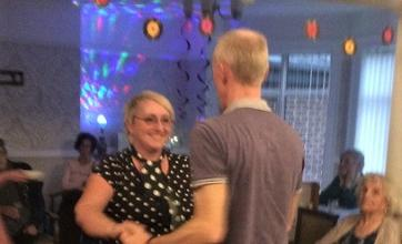 Residents learnt how to jive