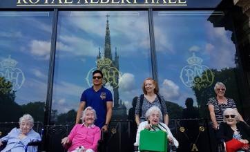 Group photo outside the Royal Albert Hall