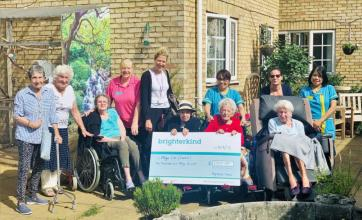 Highfield care home in Ware makes donation to Age UK Hertfordshire
