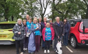 Team member at Lawton Manor Care Home in Stoke-on-Trent completes memory walk for Alzheimer's