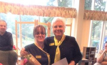 Anne Hind with home manager, Helen Brewster