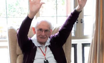 Meyrick Rise Care Home in Bournemouth have an Oomph exercise session