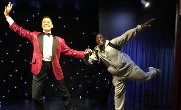 Dennis having a boogie with Strictly Come Dancing judge Craig Revel Horwood