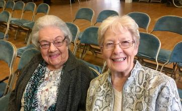 Buchanan House Care Home, Glasgow-Residents Netta and Jess at The Boclair Academy Summer Concert