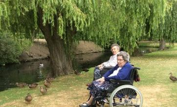 Residents enjoyed feeding the ducks