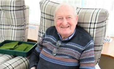 Garioch Care Home, Inverurie-Resident James had a great time creating his miniature garden