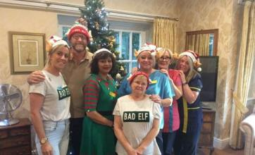 The Lawns Care Home in Leicestershire celebrate elf day