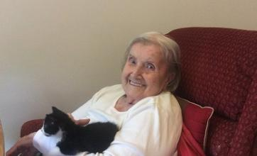 Resident Hannah getting her fill of cuddles and cuteness!
