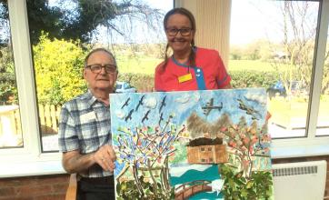 Residents at Highfields Care Home in Edingley take part in brighterkind's create challenge
